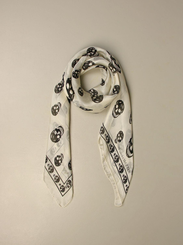 Neck scarf Alexander Mcqueen: Neck scarf men Alexander Mcqueen ivory 2