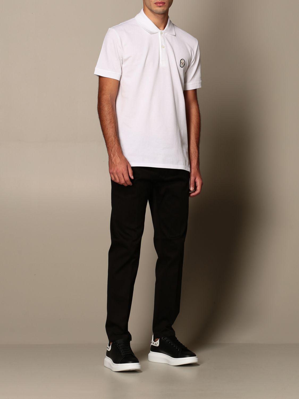 T-shirt Alexander Mcqueen: Polo Alexander McQueen in cotone con logo bianco 2