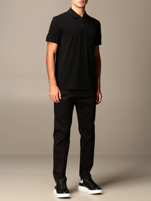 T-shirt Alexander Mcqueen: Alexander McQueen polo shirt in cotton with logo black 2