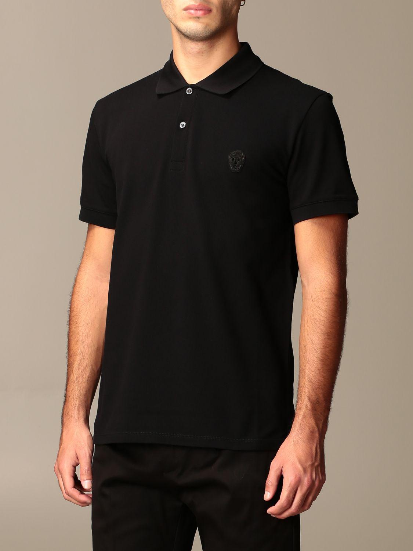 T-shirt Alexander Mcqueen: Alexander McQueen polo shirt in cotton with logo black 4