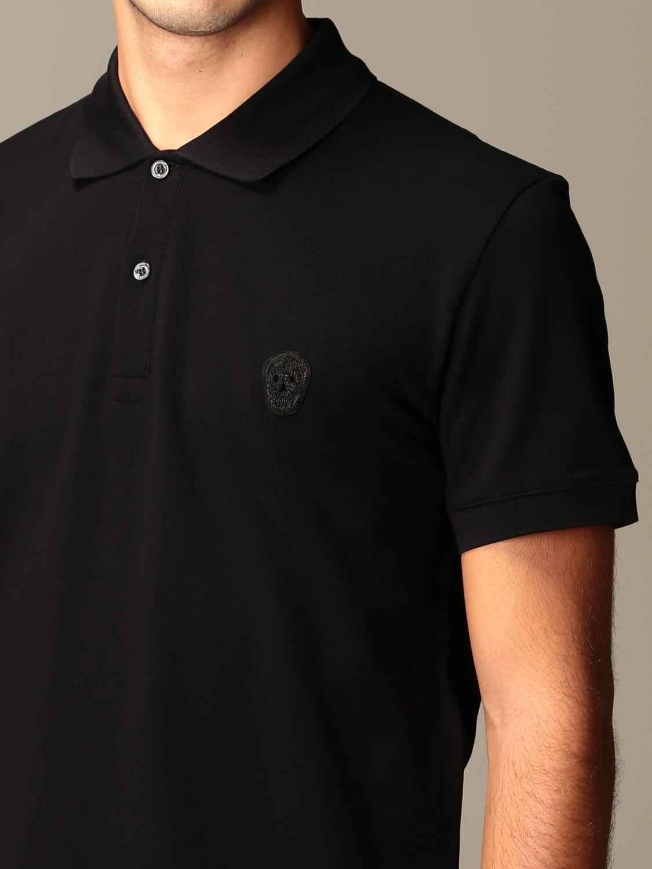 T-shirt Alexander Mcqueen: Alexander McQueen polo shirt in cotton with logo black 5