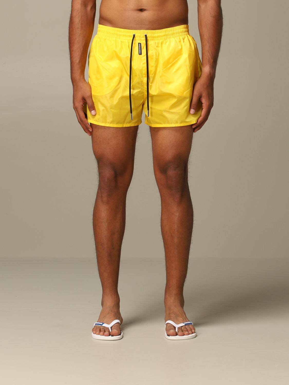 Swimsuit Dsquared2: Dsquared2 nylon swimsuit yellow 1