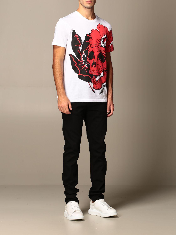 T-shirt Alexander Mcqueen: T-shirt homme Alexander Mcqueen blanc 2