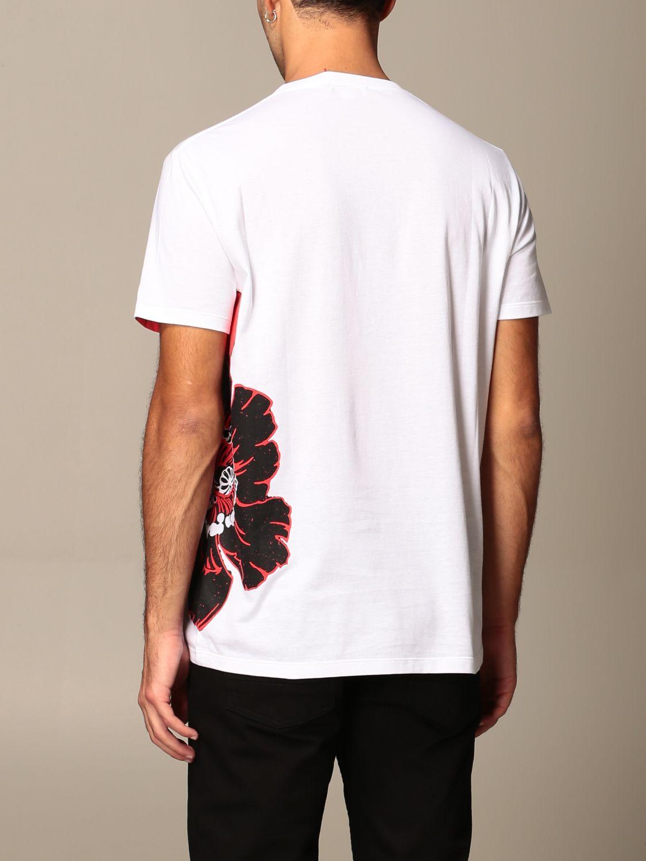 T-shirt Alexander Mcqueen: T-shirt homme Alexander Mcqueen blanc 3