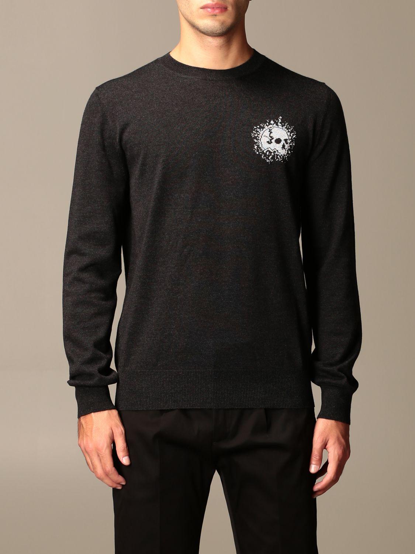 Sweater Alexander Mcqueen: Alexander McQueen sweater in wool with skull silver 1