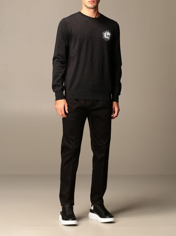 Sweater Alexander Mcqueen: Alexander McQueen sweater in wool with skull silver 2