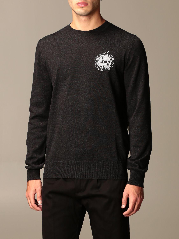Sweater Alexander Mcqueen: Alexander McQueen sweater in wool with skull silver 4