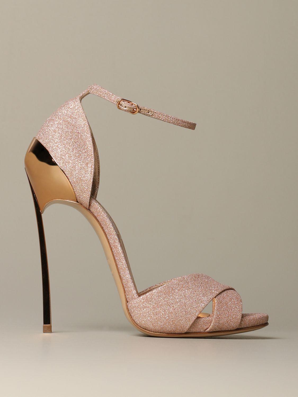 Heeled sandals Casadei: Shoes women Casadei gold 1