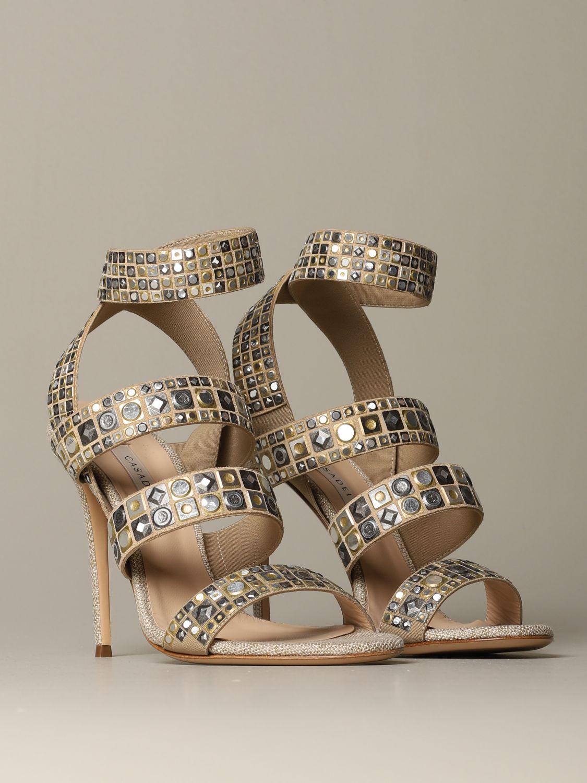 Heeled sandals Casadei: Shoes women Casadei gold 2