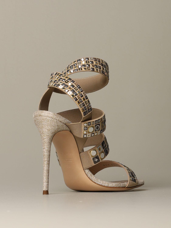 Heeled sandals Casadei: Shoes women Casadei gold 3