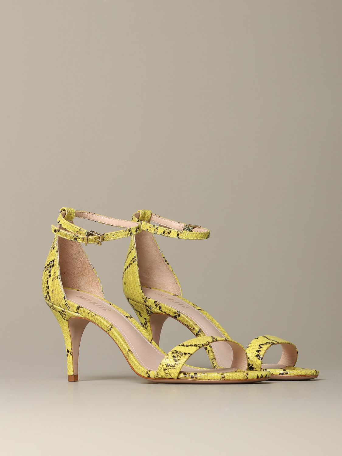 Heeled sandals Schutz: Shoes women Schutz yellow 2