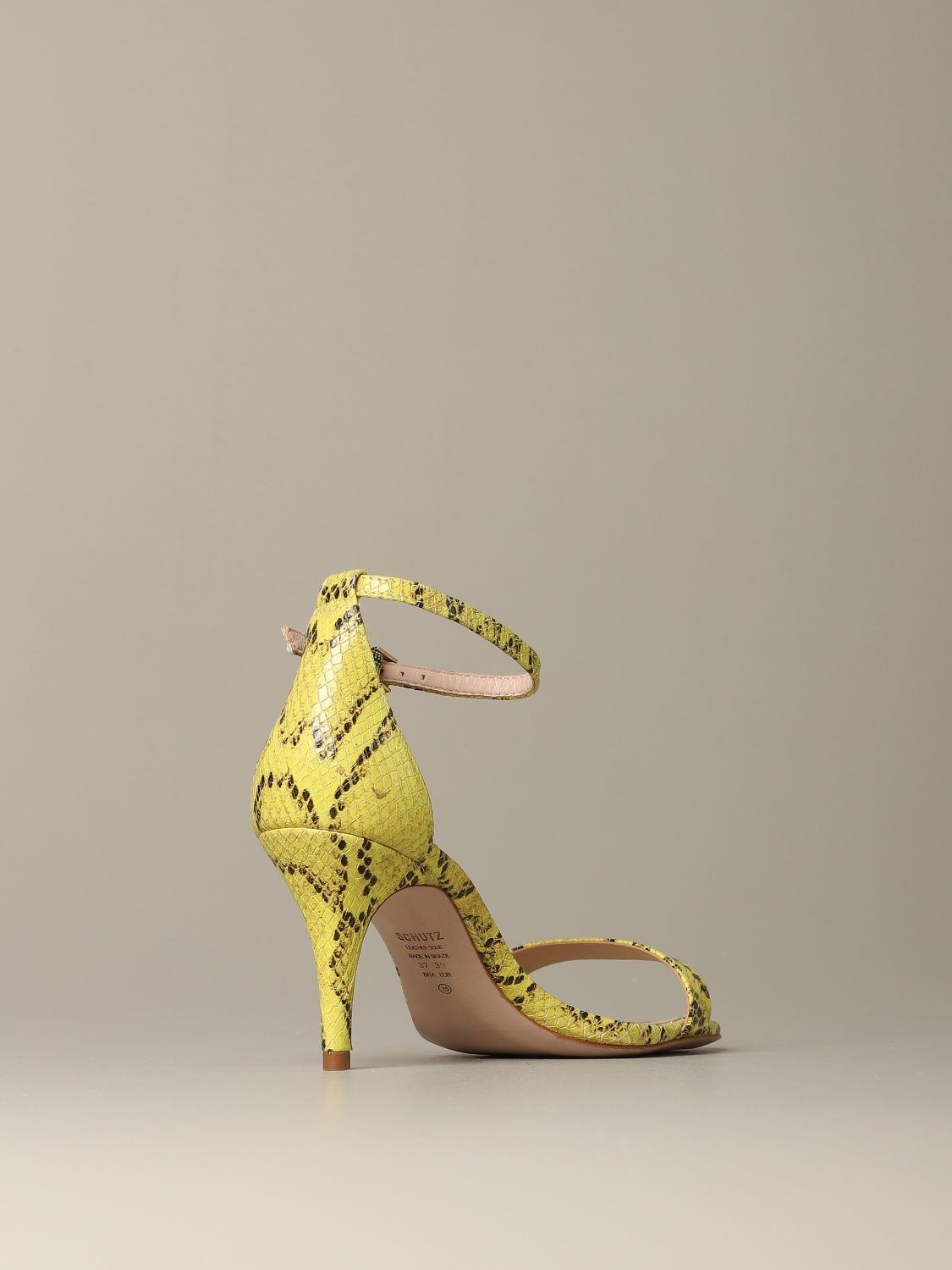 Heeled sandals Schutz: Shoes women Schutz yellow 3