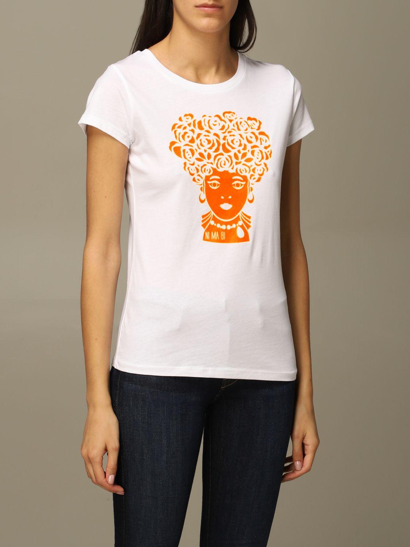 T-Shirt Ni Ma Bi: T-shirt damen Nimabi weiß 3