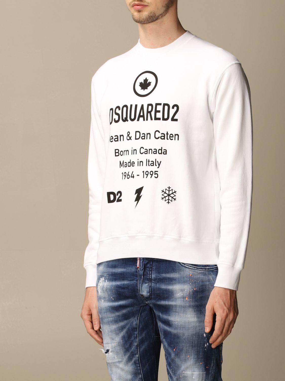 Sweatshirt Dsquared2: Dsquared2 cotton sweatshirt with logo white 3
