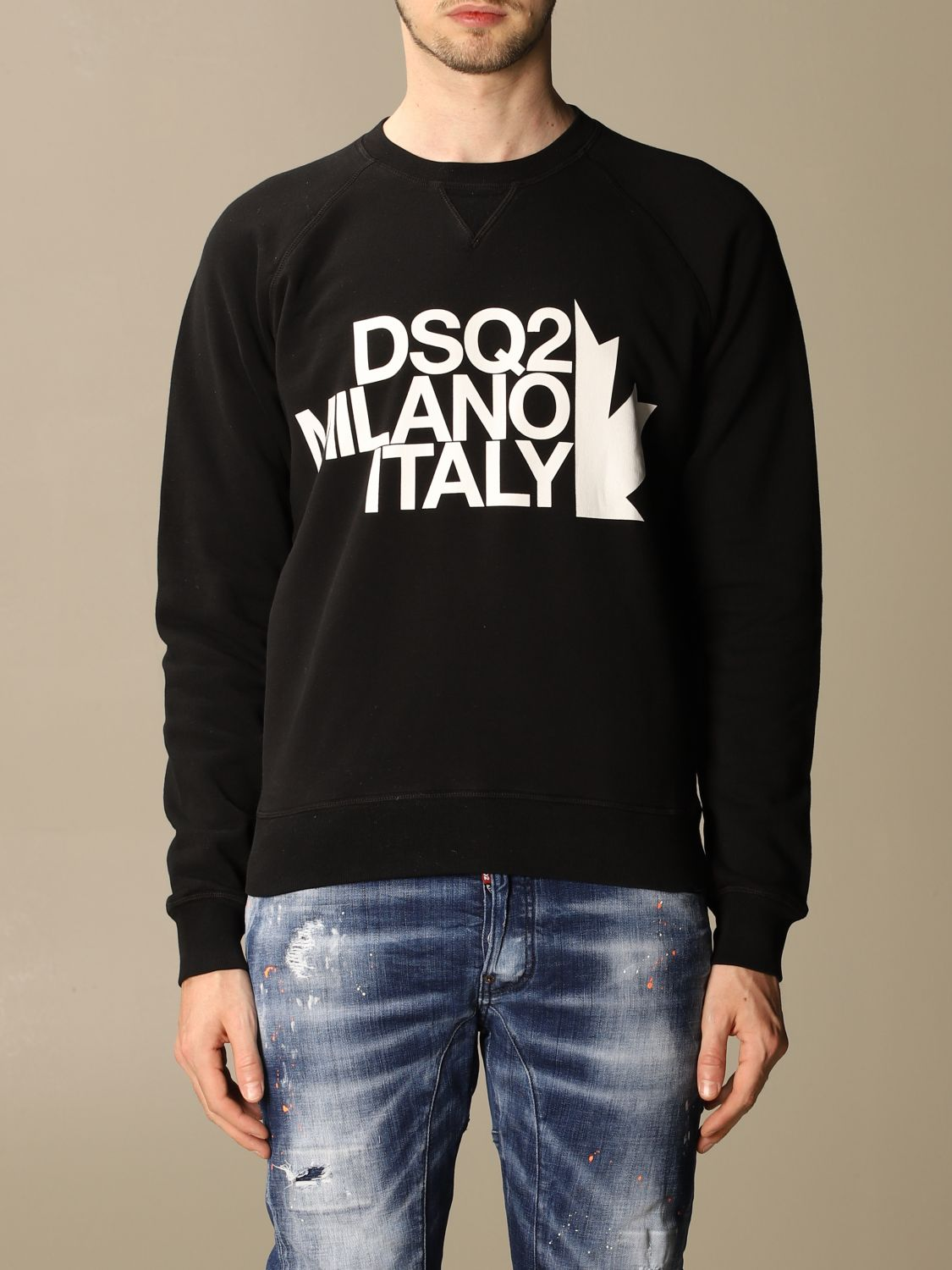 Sweatshirt Dsquared2: Dsquared2 men's sweatshirt black 1