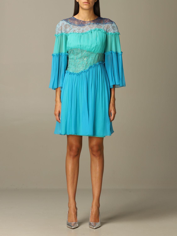 Robes Alberta Ferretti: Robes femme Alberta Ferretti bleu 1