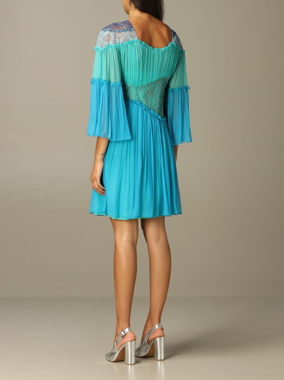 Robes Alberta Ferretti: Robes femme Alberta Ferretti bleu 2