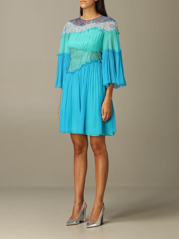Robes Alberta Ferretti: Robes femme Alberta Ferretti bleu 3