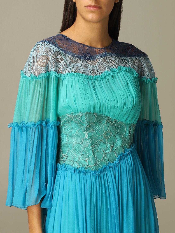 Robes Alberta Ferretti: Robes femme Alberta Ferretti bleu 4