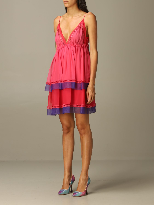 Robes Alberta Ferretti: Robes femme Alberta Ferretti fuchsia 3
