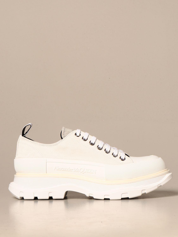Sneakers Alexander Mcqueen: Alexander McQueen sneakers in suede with logo white 1