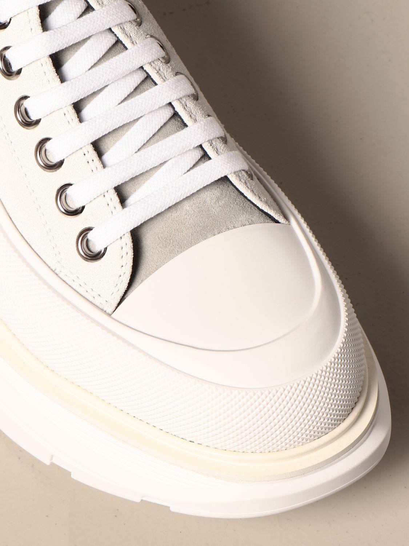 Sneakers Alexander Mcqueen: Alexander McQueen sneakers in suede with logo white 4