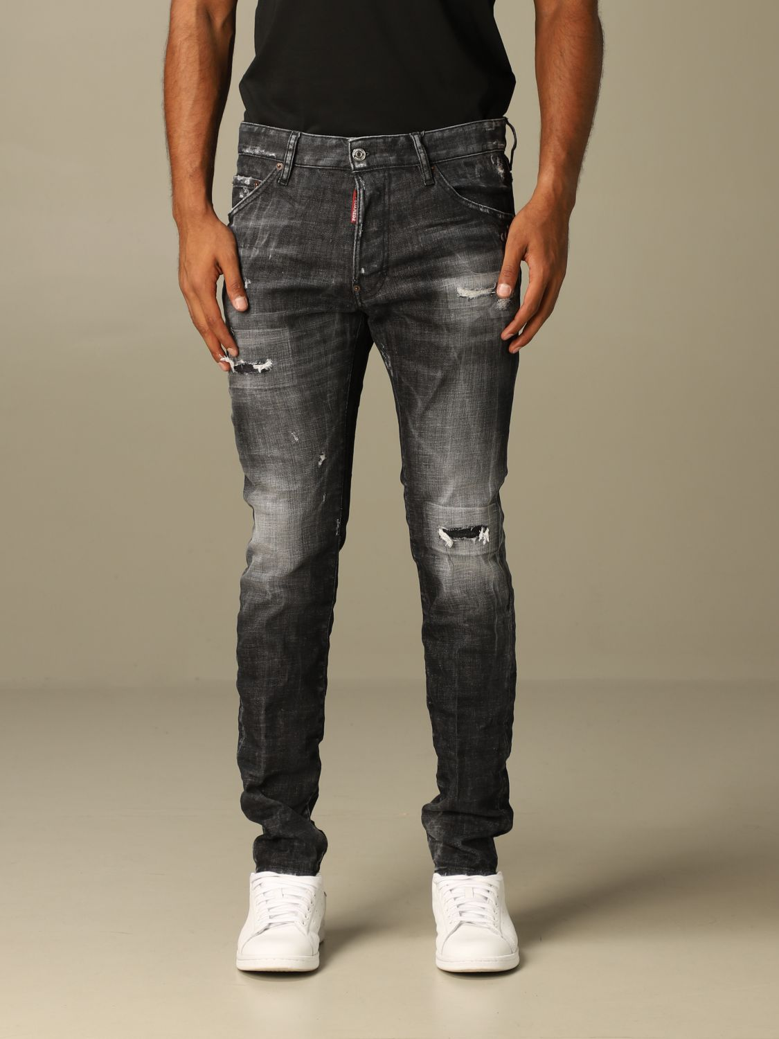 Jeans Dsquared2: Dsquared2 slim fit jeans with breaks black 1