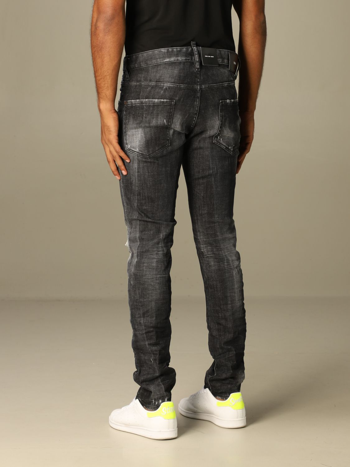 Jeans Dsquared2: Dsquared2 slim fit jeans with breaks black 2