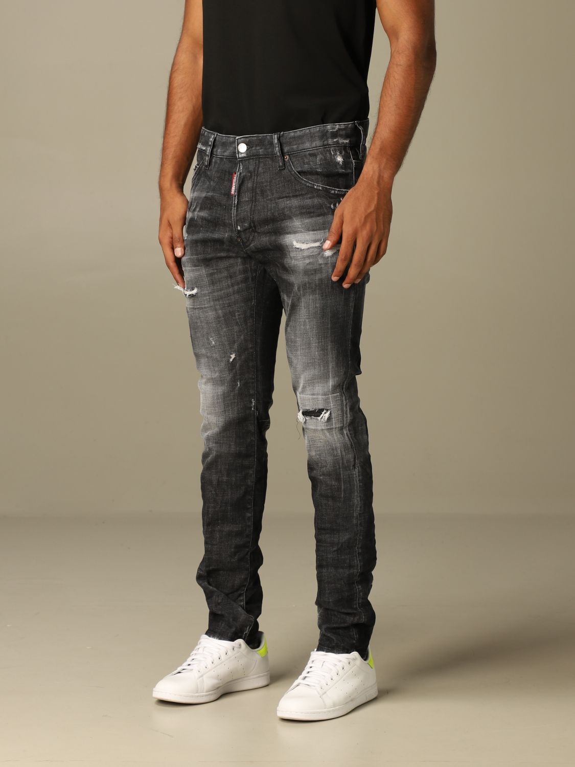 Jeans Dsquared2: Dsquared2 slim fit jeans with breaks black 3
