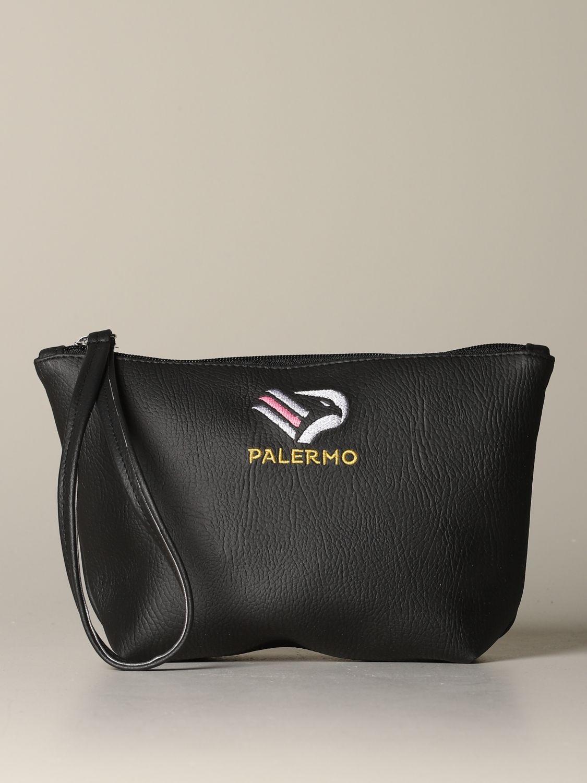 Portadocumenti Palermo: Pochette Palermo in pelle sintetica con stemma nero 1