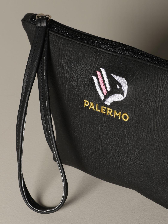 Portadocumenti Palermo: Pochette Palermo in pelle sintetica con stemma nero 3