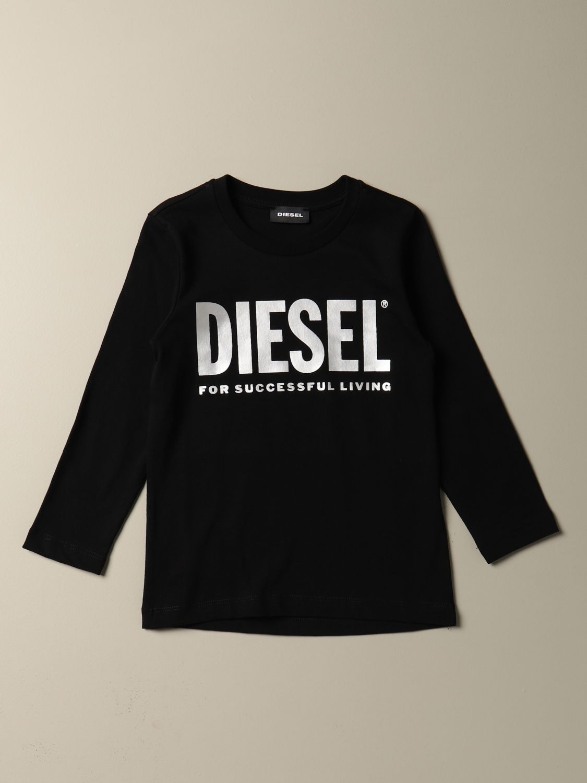 Camisetas Diesel: Camisetas niños Diesel negro 1