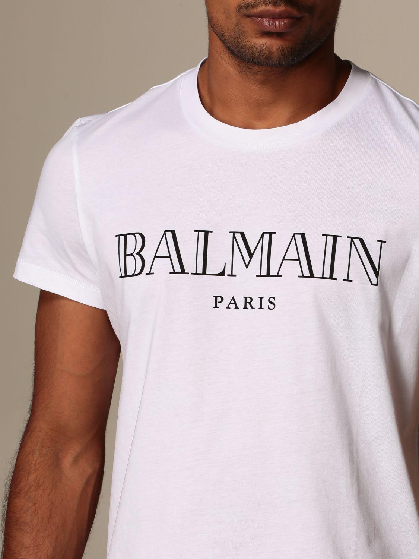 T-shirt Balmain: T-shirt men Balmain white 5