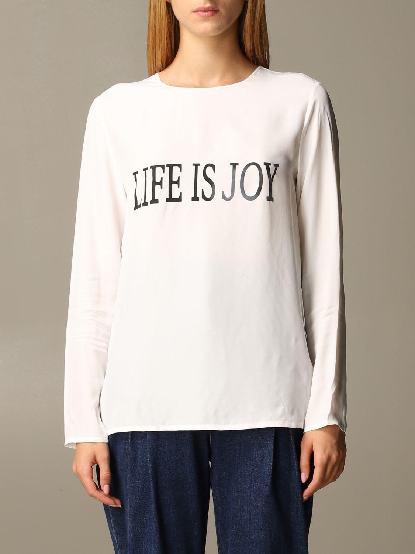 Рубашка Alberta Ferretti: Рубашка Женское Alberta Ferretti белый 1
