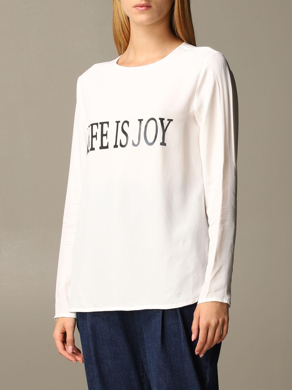 Рубашка Alberta Ferretti: Рубашка Женское Alberta Ferretti белый 4