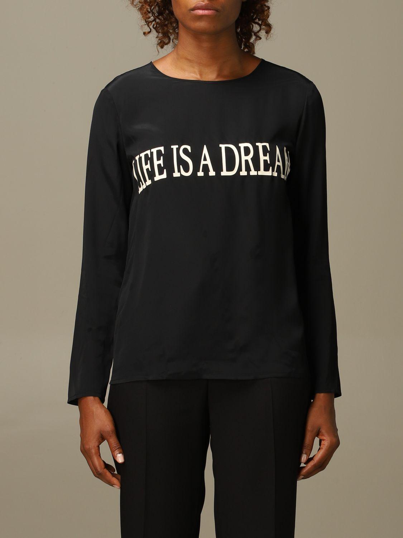 Блузка Alberta Ferretti: Рубашка Женское Alberta Ferretti черный 1