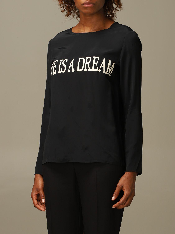 Блузка Alberta Ferretti: Рубашка Женское Alberta Ferretti черный 3