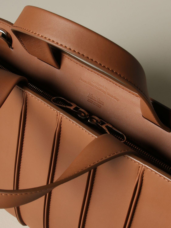 Tote bags Max Mara: Max Mara Whitney tote bag in genuine leather leather 4