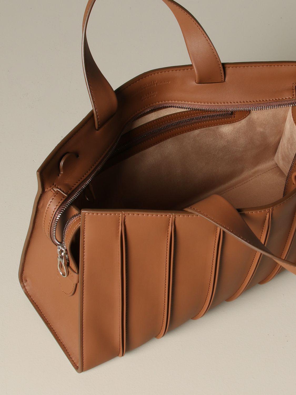 Tote bags Max Mara: Max Mara Whitney tote bag in genuine leather leather 5
