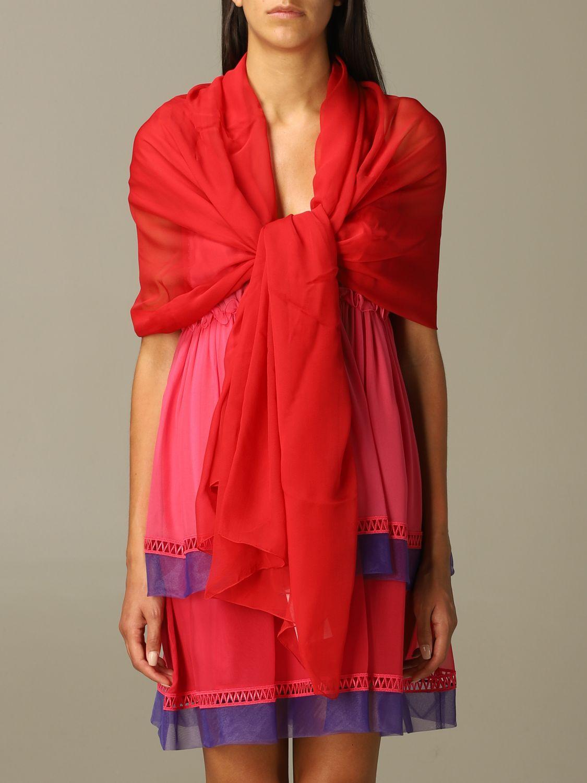 Neck scarf Alberta Ferretti: Neck scarf women Alberta Ferretti red 1