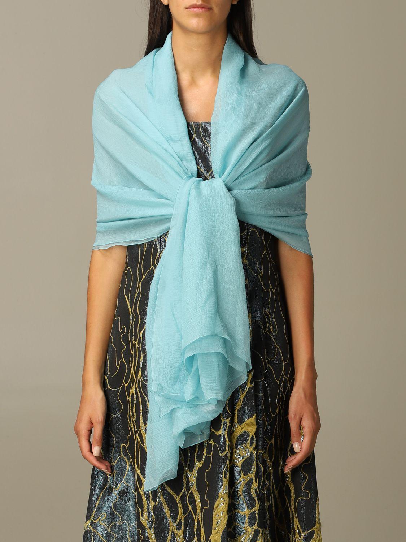 Платок Alberta Ferretti: Платок Женское Alberta Ferretti водная синь 1