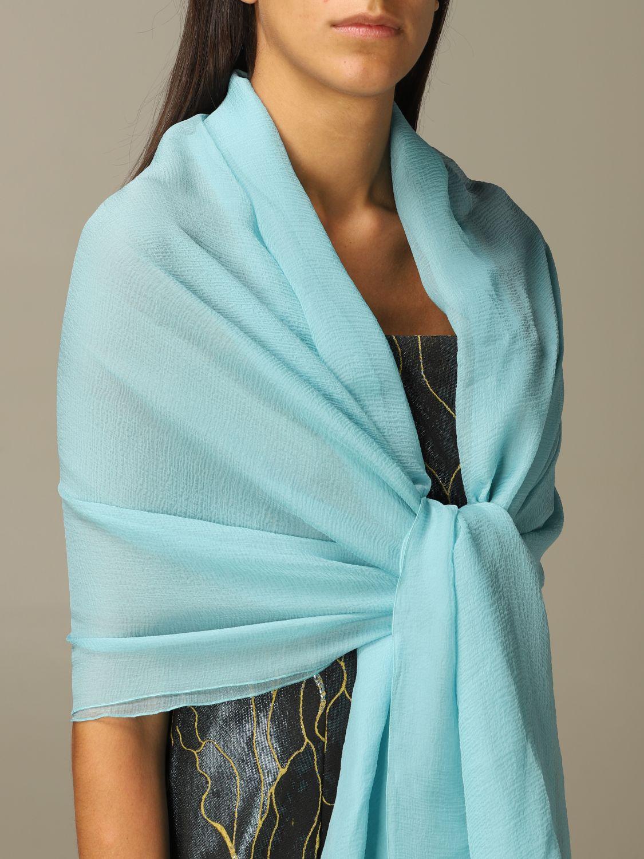 Платок Alberta Ferretti: Платок Женское Alberta Ferretti водная синь 2