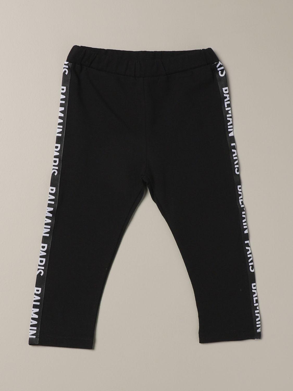 Pantalone Balmain: Leggings Balmain con bande logate nero 1