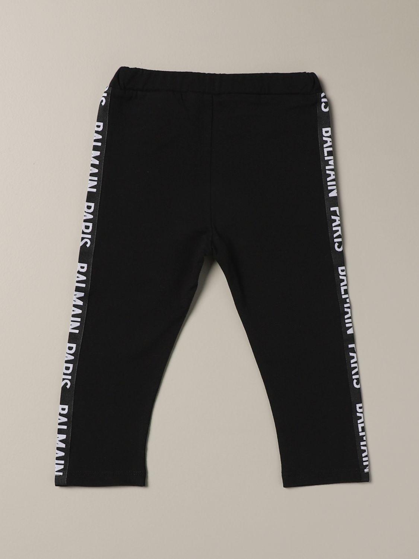 Pantalone Balmain: Leggings Balmain con bande logate nero 2