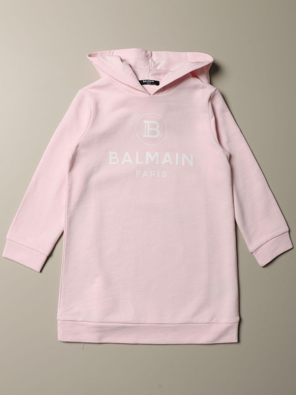 Abito Balmain: Abito Balmain a felpa con logo bianco 1