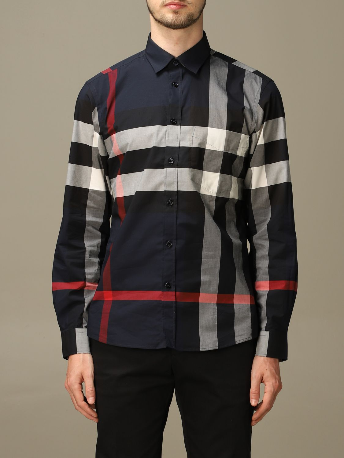 Shirt Burberry: Shirt men Burberry blue 1