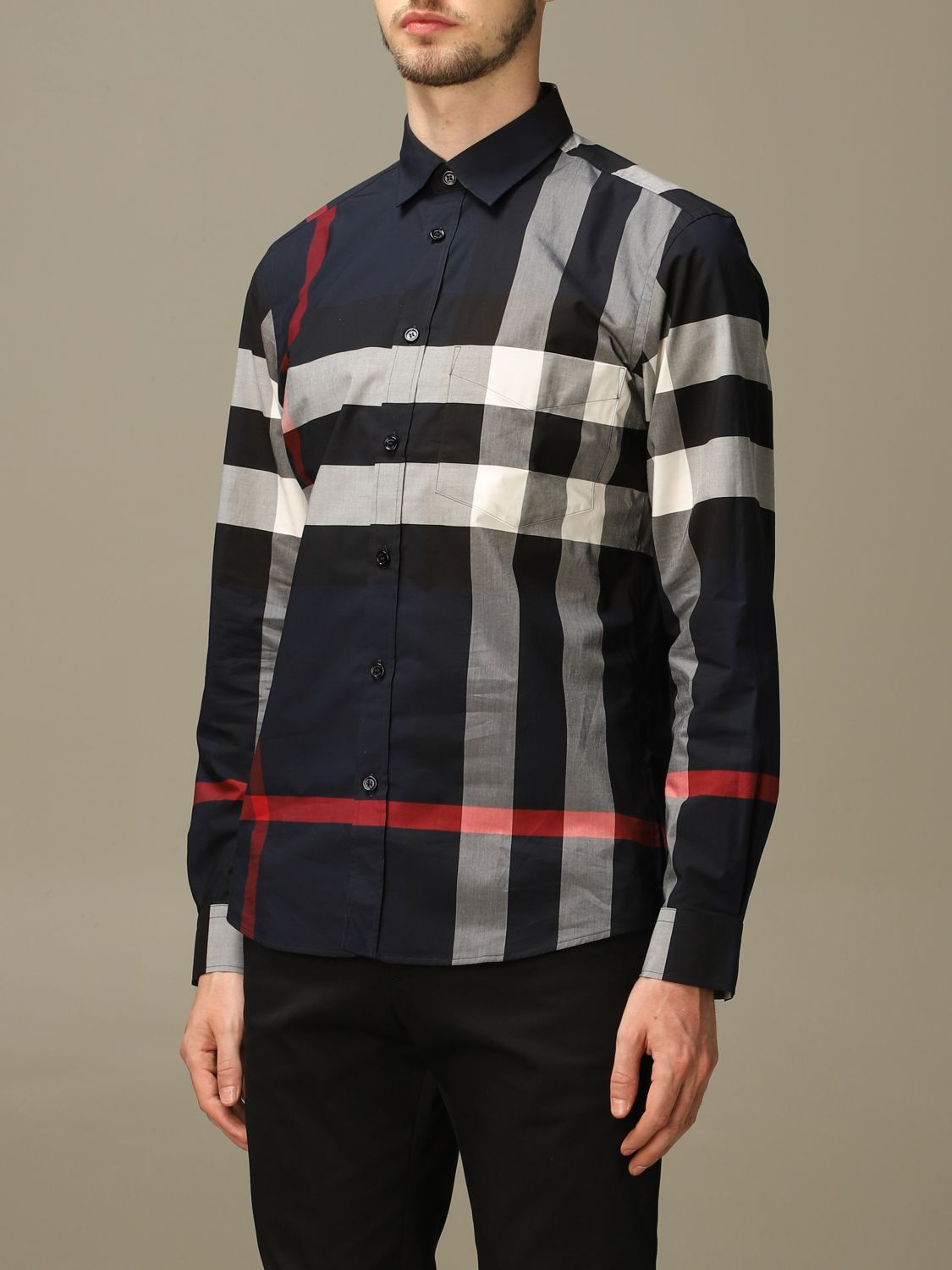 Shirt Burberry: Shirt men Burberry blue 3