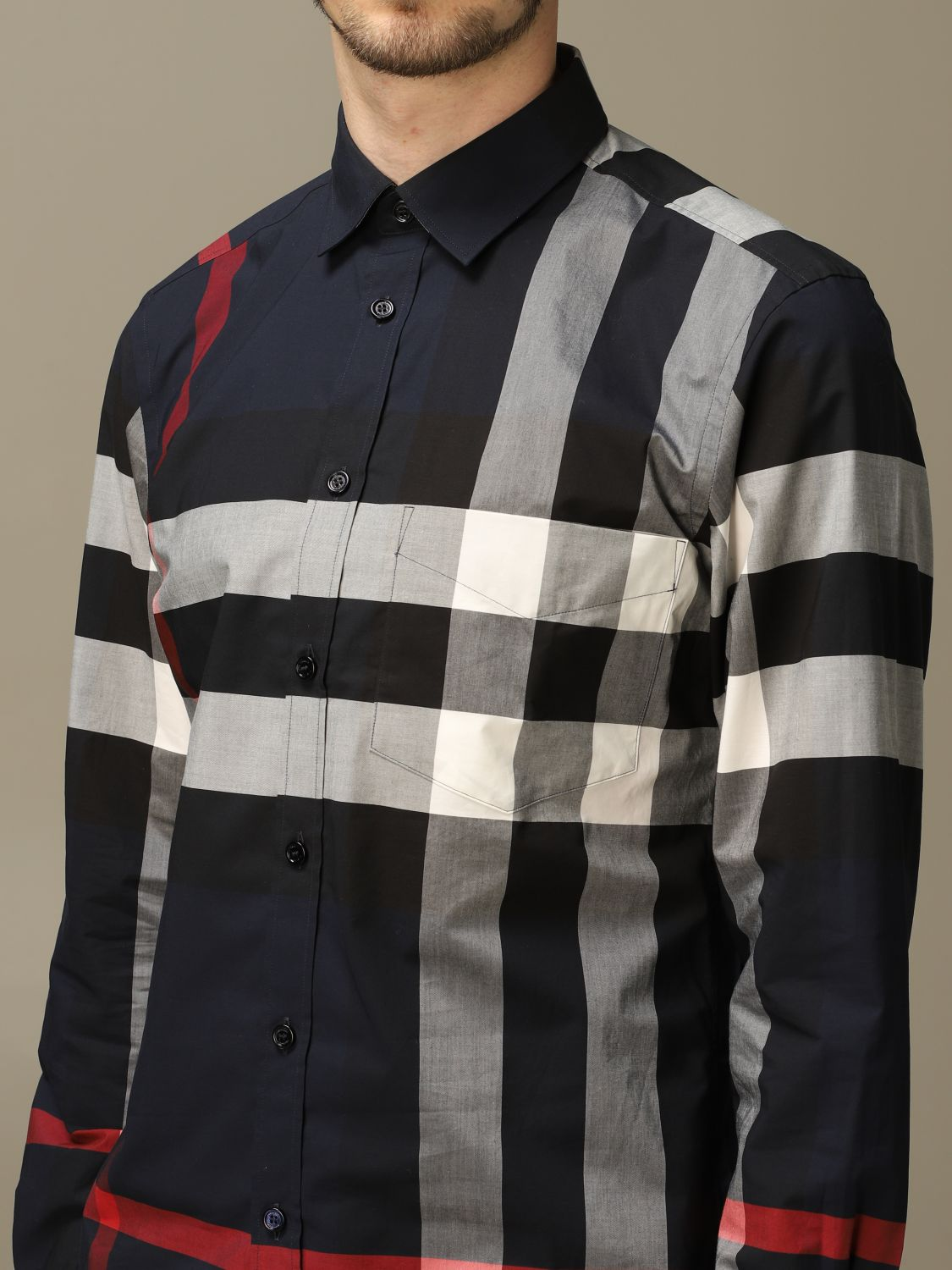 Shirt Burberry: Shirt men Burberry blue 4