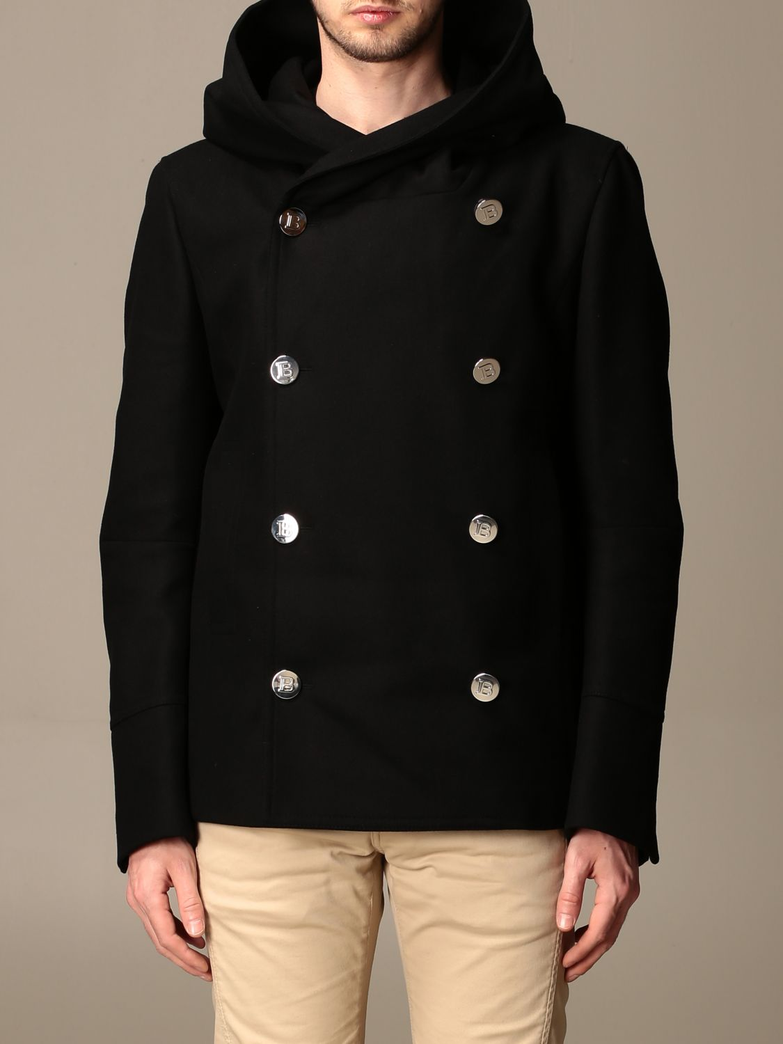 Coat Balmain: Coat men Balmain black 1