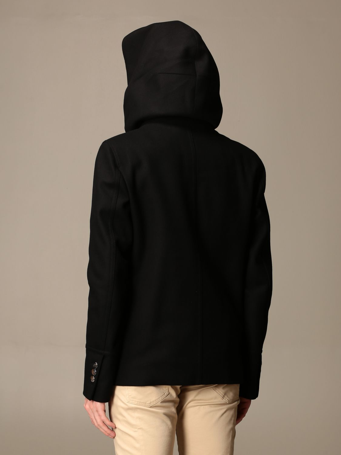 Coat Balmain: Coat men Balmain black 3